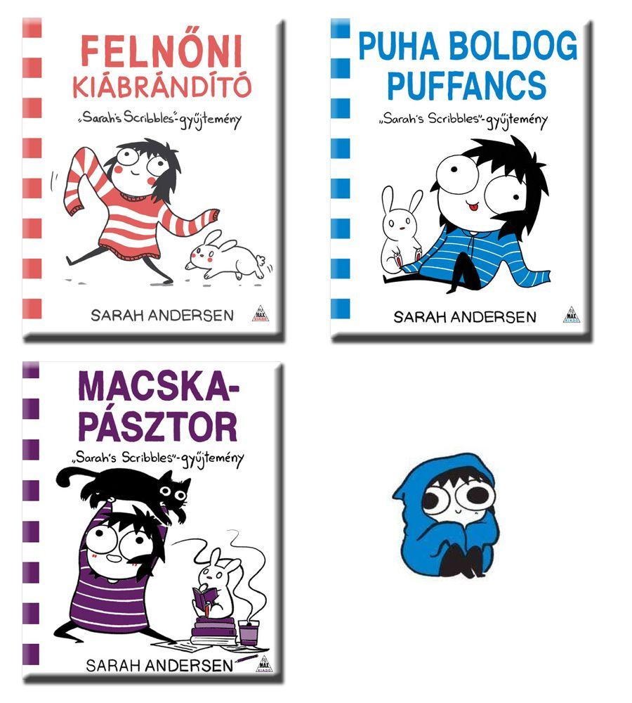 Sarah Andersen akciós csomag: Felnőni kiábrándító, Puha boldog puffancs, Macskapásztor
