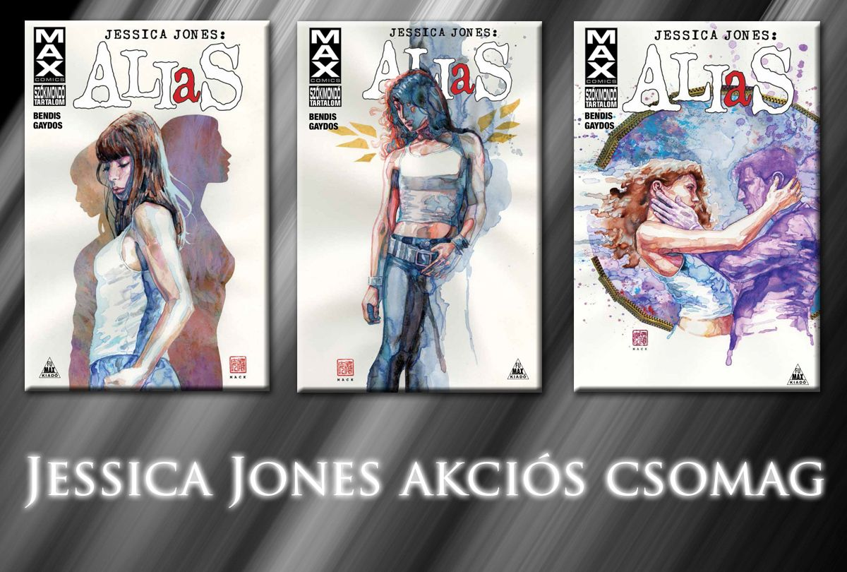 A teljes Jessica Jones - Alias-sorozat akciós csomag (Alias 1, 2, 3) keménytáblás képregények