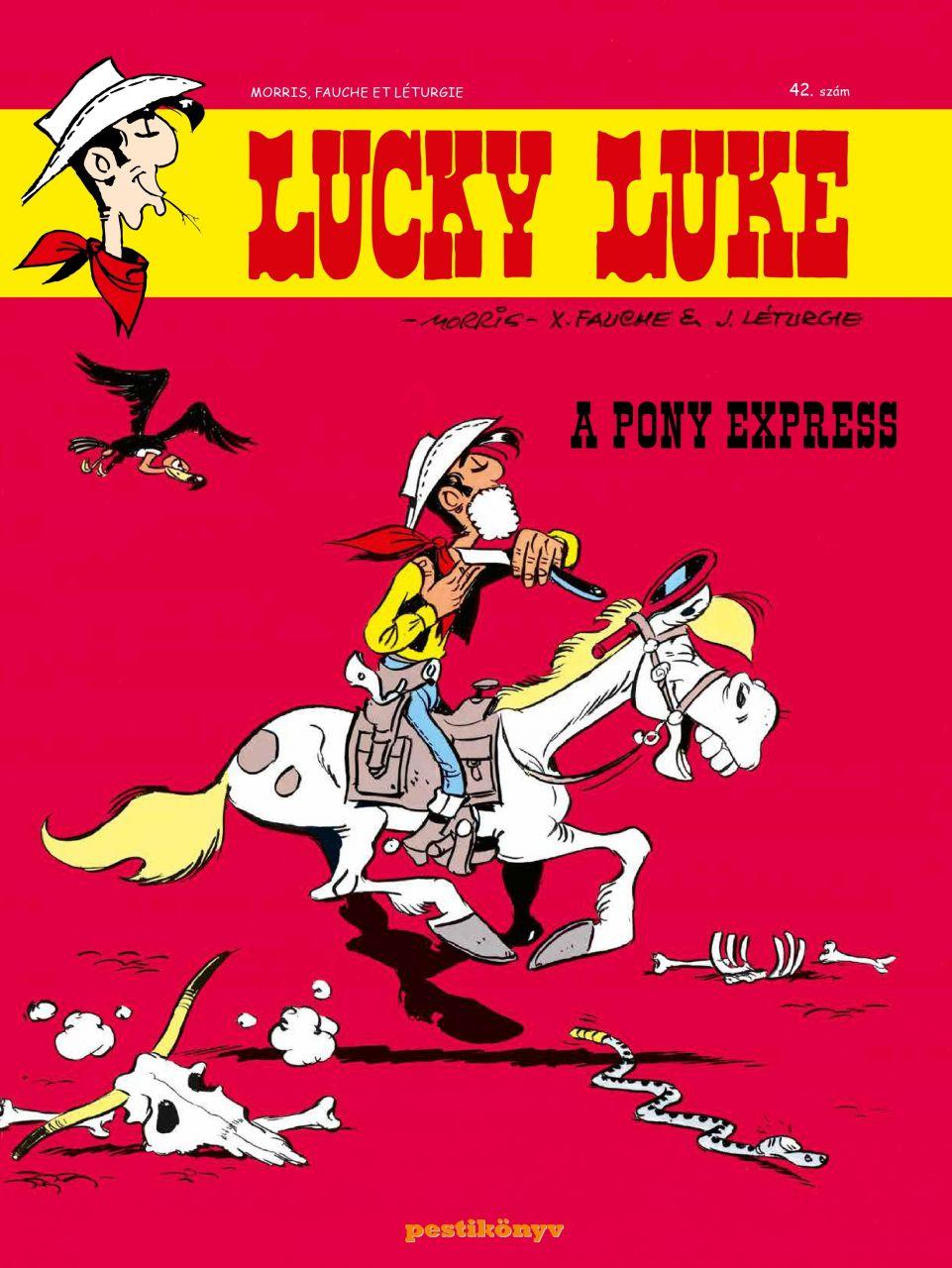 Lucky Luke 42 - A Pony Express puhatáblás képregény