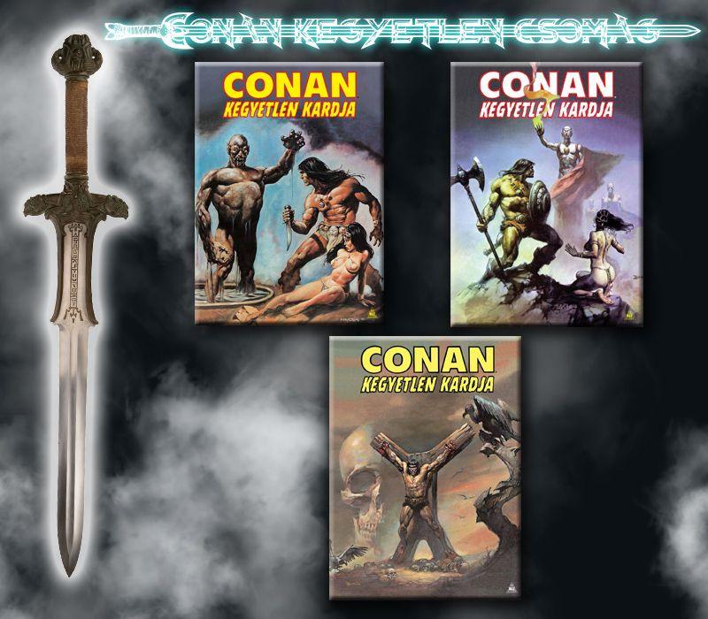 Conan kegyetlen akciós csomagja (Conan kegyetlen kardja 1, 2, 3 keménytáblás képregények)!