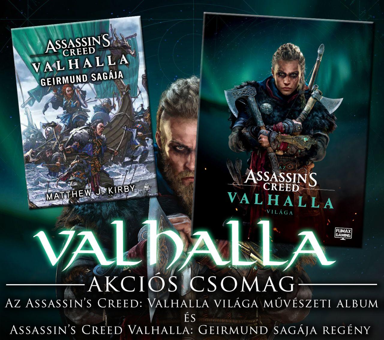 Assassin's Creed Valhalla akciós csomag (Geirmund sagája regény és Az Assassin's Creed Valhalla világa nagyalakú, keménytáblás album)