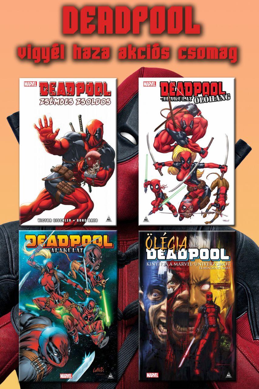 Fumax Deadpool-sorozat akciós csomag (Zsémbes zsoldos, Ölőhang, Deadpool-alakulat, Ölégia keménytáblás képregények)